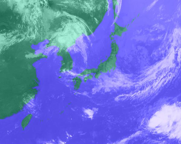 2016年07月22日11時 衛星雲画像