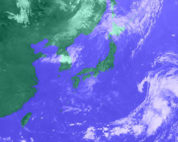2016年07月29日12時 衛星雲画像