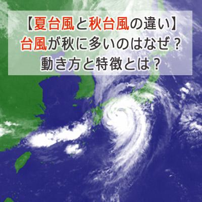 夏台風と秋台風の違い